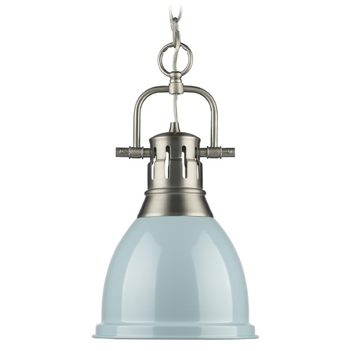 Golden Lighting Golden Lighting Duncan Pewter Mini-Pendant Light 3602-S PW-SF