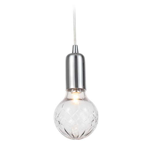 Crystorama Lighting Crystorama Lighting Essex Polished Chrome Mini-Pendant Light with Globe Shade 200-CH