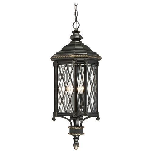 Minka Lavery Minka Bexley Manor Black with Gold Outdoor Hanging Light 9324-585