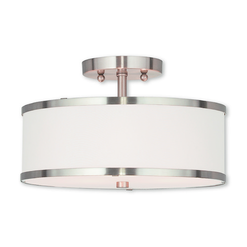 Livex Lighting Livex Lighting Park Ridge Brushed Nickel Semi-Flushmount Light 62627-91