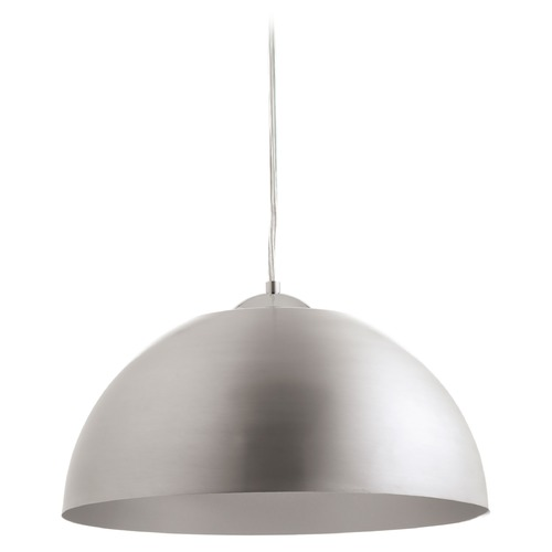 Progress Lighting Progress Lighting Dome Satin Aluminum LED Pendant Light P5341-1630K9