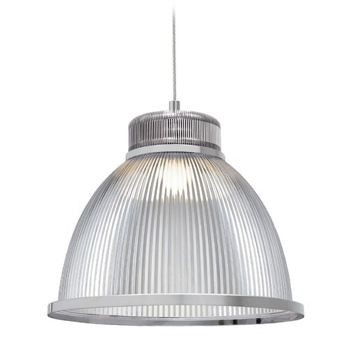 Kuzco Lighting Industrial Chrome LED Pendant with Opaque Shade 3000K 550LM PD2913-CH