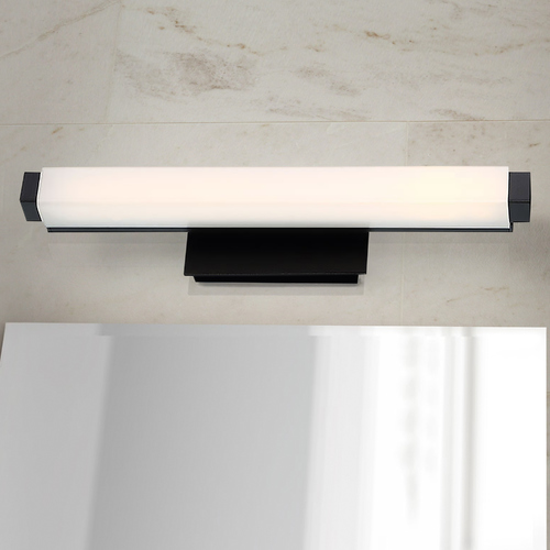 Modern Forms by WAC Lighting Modern Forms Mini Vogue Black LED Vertical Bathroom Light 2700K 784LM WS-21712-27-BK