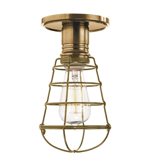 Hudson Valley Lighting Semi-Flushmount Light in Aged Brass Finish 8100-AGB-WG