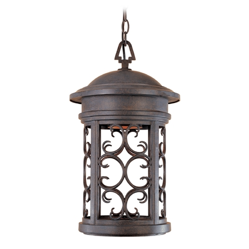 Designers Fountain Lighting Outdoor Hanging Light in Mediterranean Patina Finish 31134-MP