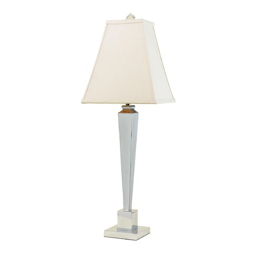 AF Lighting Modern Console & Buffet Lamp with Beige / Cream Shade in Chrome Finish 6672-TL