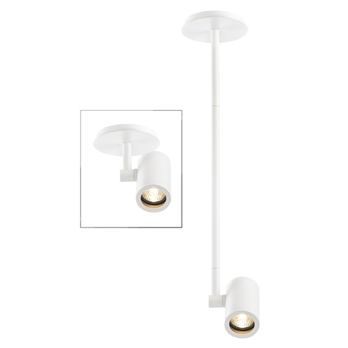 Recesso Lighting by Dolan Designs Cylinder Adjustable Monopoint - White - GU10 Base TR0111-WH
