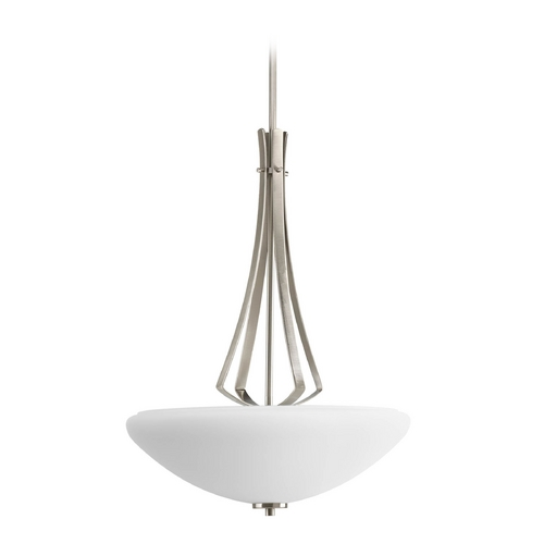 Progress Lighting Progress Modern Pendant Light with White Glass P3944-09
