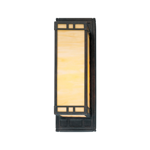 Progress Lighting Progress Craftsman Style Sconce with Art Glass P7138-46EB