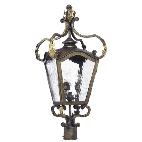 Elk Lighting Post Light with Clear Glass in Castle Bronze Finish 5783-CB