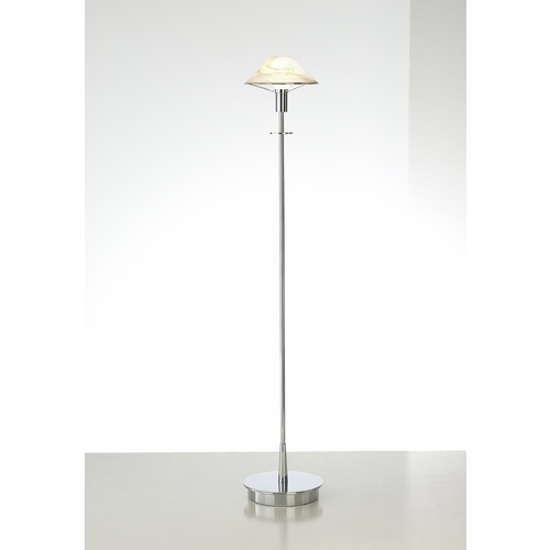 Holtkoetter Lighting Holtkoetter Modern Floor Lamp with Alabaster Glass in Chrome Finish 6515 CH ABR