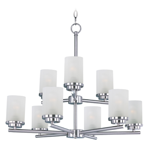 Maxim Lighting Maxim Lighting Corona Satin Nickel Chandelier 10206FTSN