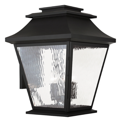 Livex Lighting Livex Lighting Hathaway Black Outdoor Wall Light 20245-04