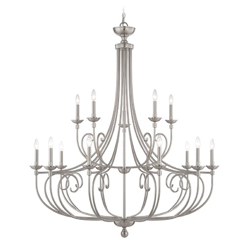 Savoy House Savoy House Lighting Langley Satin Nickel Chandelier 1-650-15-SN