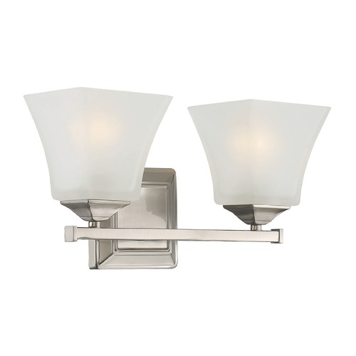 Savoy House Savoy House Lighting Castel Satin Nickel Bathroom Light 8-2098-2-SN