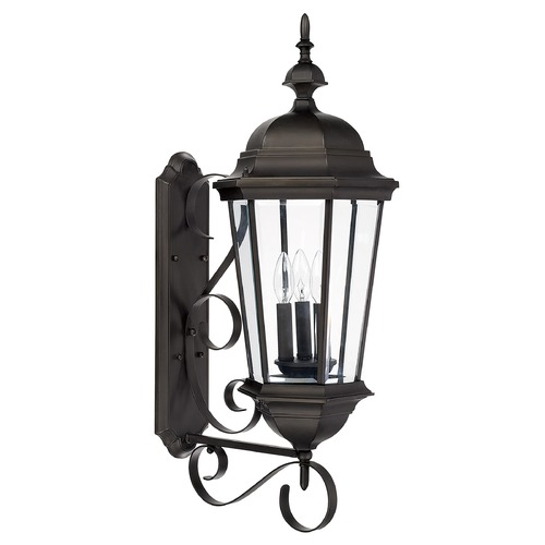 Capital Lighting Capital Lighting Carriage House Old Bronze Outdoor Wall Light 9723OB