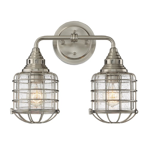 Savoy House Savoy House Lighting Connell Satin Nickel Bathroom Light 8-575-2-SN