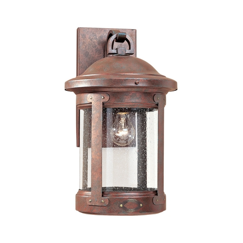 Sea Gull Lighting Outdoor Wall Light with Clear Glass in Weathered Copper Finish 8441-44