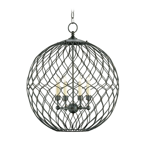 Currey and Company Lighting Pendant Light in Hiroshi Gray Finish 9618
