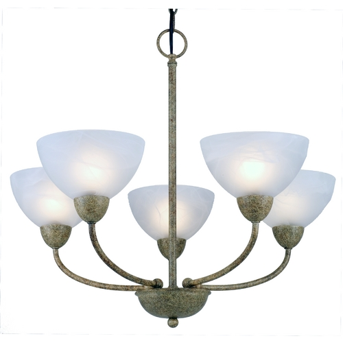 Design Classics Lighting Five-Light Chandelier 2939-55