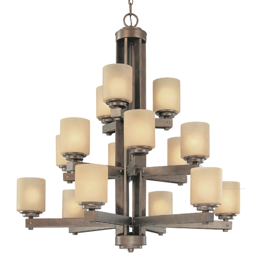 Dolan Designs Lighting Dolan Designs 3-Tier 15-Light Chandelier in Sienna 2703-90