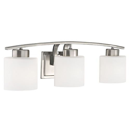 Design Classics Lighting Bathroom Wall Light with White Oval Glass - Three Lights 1383-09
