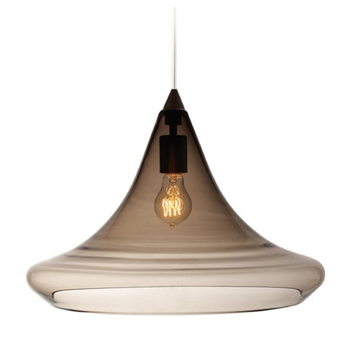 Tech Lighting Modern Pendant Light with Grey Glass in Antique Bronze Finish 700TDMALPKZ