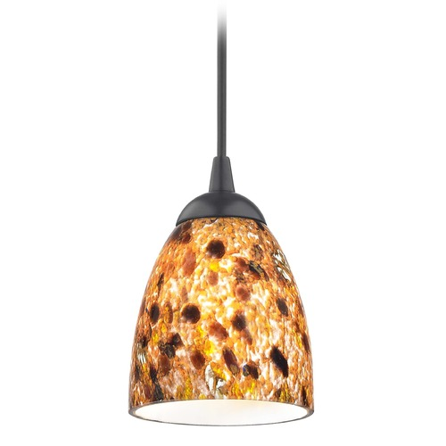 Design Classics Lighting Design Classics Gala Fuse Matte Black LED Mini-Pendant Light with Bell Shade 682-07 GL1005MB