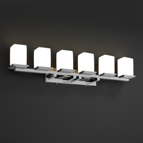 Justice Design Group Justice Design Group Limoges Collection Bathroom Light POR-8686-15-WFAL-CROM