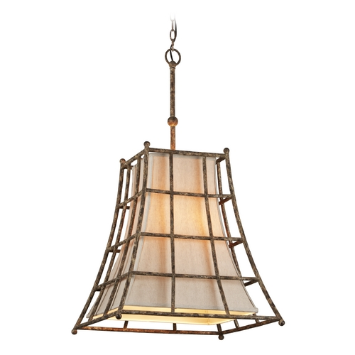 Troy Lighting Troy Lighting Left Bank Coastal Rust Pendant Light with Square Shade F3785