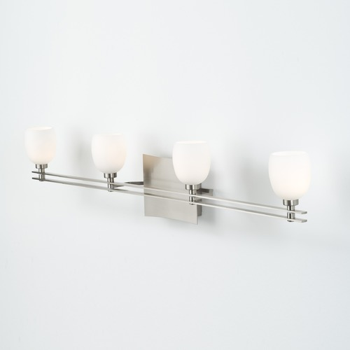 Holtkoetter Lighting Holtkoetter Lighting Ludwig Series Satin Nickel Bathroom Light 5584 SN G5001