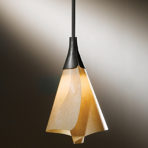 Hubbardton Forge Lighting Hubbardton Forge Lighting Mobius Dark Smoke Mini-Pendant Light 18453-312-07-543
