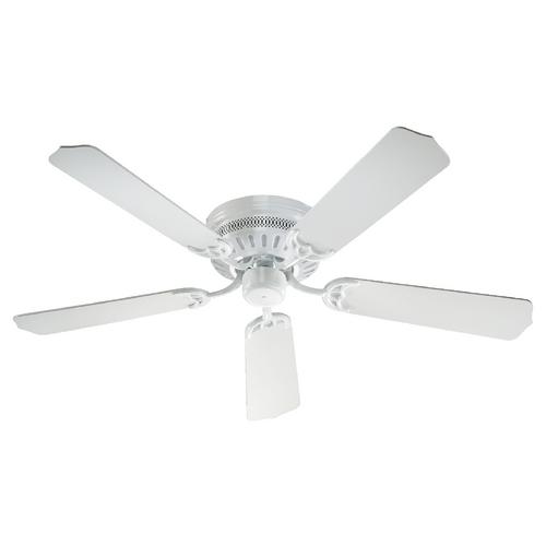 quorum lighting hugger white ceiling fan without light. Black Bedroom Furniture Sets. Home Design Ideas