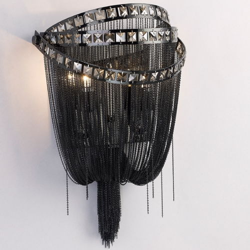 Avenue Lighting Avenue Lighting Wilshire Blvd Polished Black Chrome Sconce HF1607-BLK