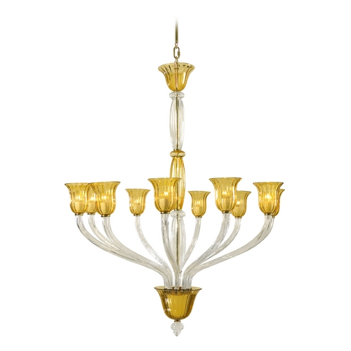 Cyan Design Cyan Design Vetrai Clear with Amber Chandelier 6509-10-00