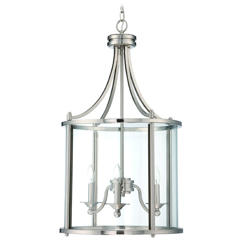 Jeremiah Lighting Jeremiah Lighting Carlton Brushed Nickel Pendant Light 39533-BNK