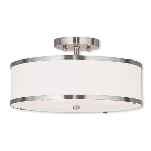 Livex Lighting Livex Lighting Park Ridge Brushed Nickel Semi-Flushmount Light 62628-91