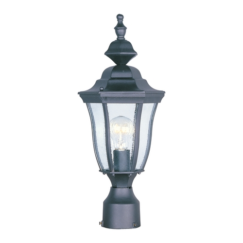 Maxim Lighting Post Light with Clear Glass in Black Finish 1013BK