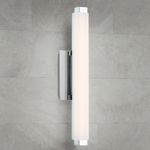 Modern Forms by WAC Lighting Modern Forms Mini Vogue Chrome LED Vertical Bathroom Light 2700K 784LM WS-21712-27-CH