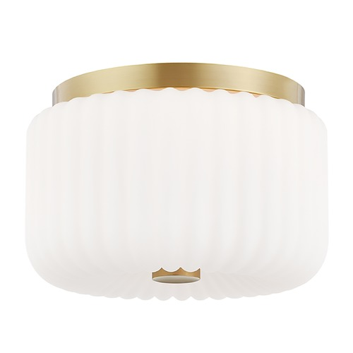 Mitzi by Hudson Valley Mitzi By Hudson Valley Lydia Aged Brass Flushmount Light H340502-AGB