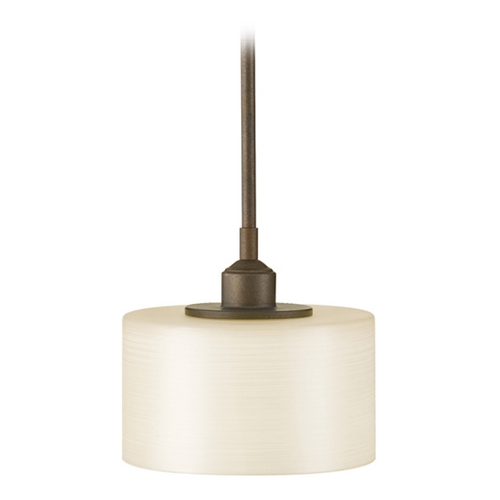 Feiss Lighting Modern Mini-Pendant Light with White Glass P1153CB