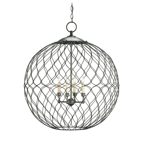 Currey and Company Lighting Pendant Light in Hiroshi Gray Finish 9617