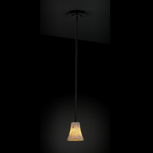 Justice Design Group Justice Design Group Alabaster Rocks! Collection Mini-Pendant Light ALR-8815-20-MBLK