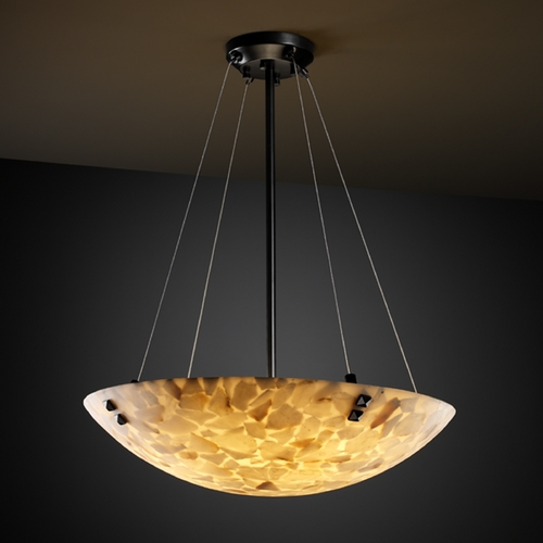 Justice Design Group Justice Design Group Alabaster Rocks! Collection Pendant Light ALR-9667-35-MBLK-F3