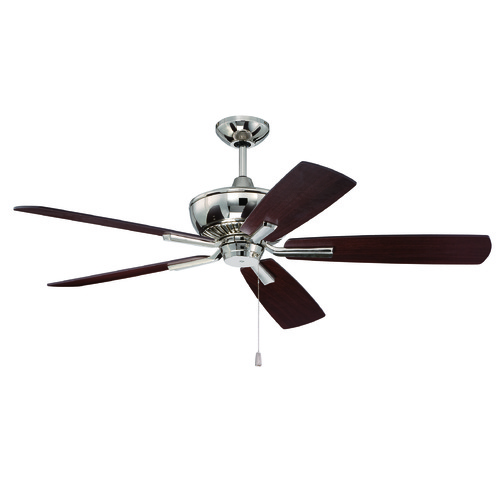 Craftmade Lighting Craftmade Lighting Dunbar Polished Nickel Ceiling Fan Without Light DUN52PLN5
