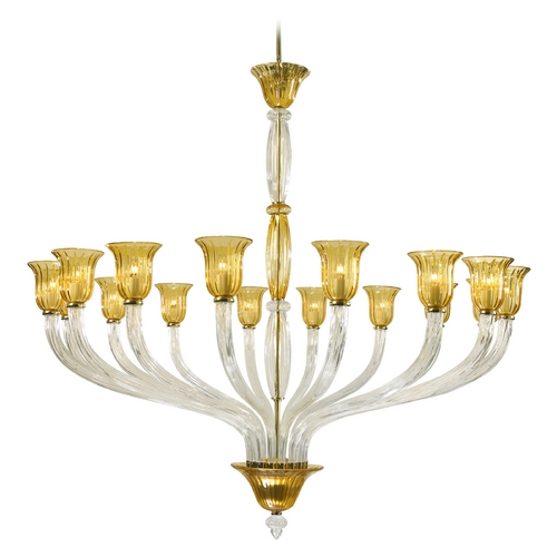 Cyan Design Cyan Design Vetrai Clear with Amber Chandelier 6509-16-00