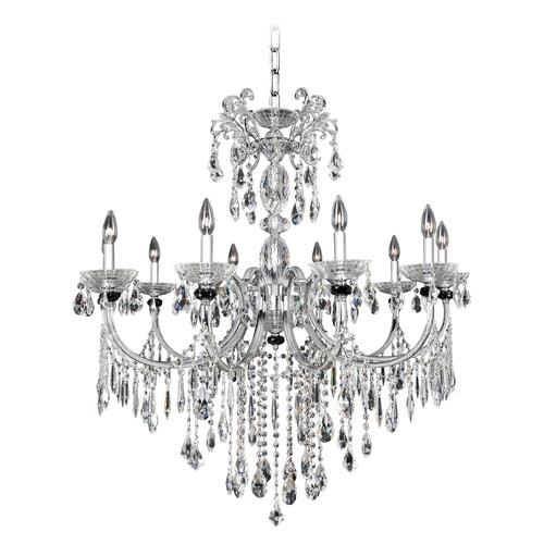 Allegri Lighting Steffani 10 Light Crystal Chandelier 024252-010-FR001