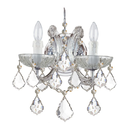 Crystorama Lighting Crystorama Lighting Maria Theresa Polished Chrome Sconce 4472-CH-CL-I