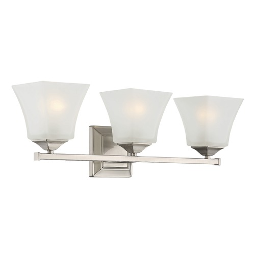 Savoy House Savoy House Lighting Castel Satin Nickel Bathroom Light 8-2098-3-SN
