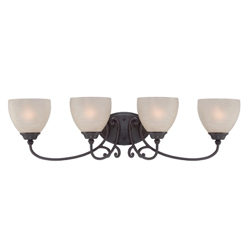 Designers Fountain Lighting Designers Fountain Tangier Natural Iron Bathroom Light 85504-NI